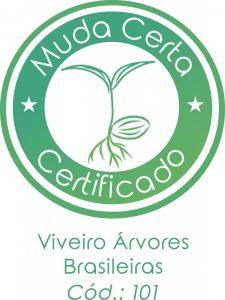 Foto 6 – Selo de Qualidade oferecido pelo Programa Muda Certa ao Viveiro Árvores Brasileiras, localizado em Iperó, SP para a divulgação do mesmo nas redes sociais e site da instituição.