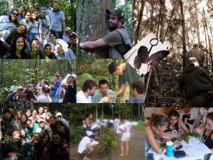 Figura 5. Algumas imagens de turmas e atividades dos Cursos Presenciais da Brasil Bioma. Fonte: arquivo pessoal.
