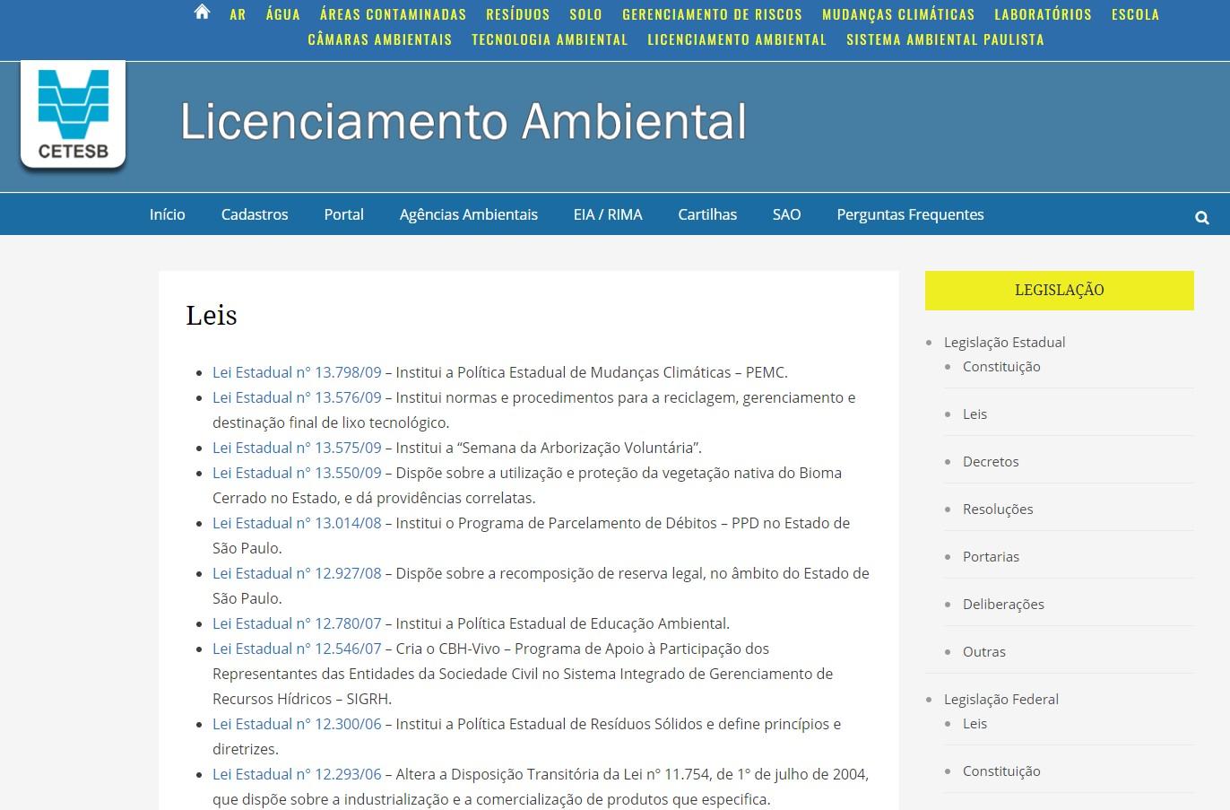 Legislação ambiental leis consulta